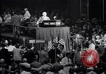Image of Herbert Hoover addresses cheering crowd at Republican Convention Cleveland Ohio USA, 1936, second 6 stock footage video 65675035785