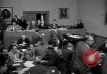 Image of court hearing a case on gangster Frank Costello United States USA, 1951, second 1 stock footage video 65675035801