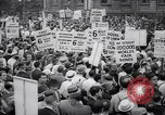 Image of Mayor of New York addresses striking electrical workers New York United States USA, 1937, second 4 stock footage video 65675035817