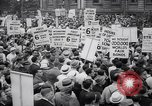 Image of Mayor of New York addresses striking electrical workers New York United States USA, 1937, second 5 stock footage video 65675035817