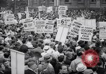 Image of Mayor of New York addresses striking electrical workers New York United States USA, 1937, second 6 stock footage video 65675035817