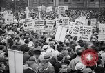 Image of Mayor of New York addresses striking electrical workers New York United States USA, 1937, second 7 stock footage video 65675035817