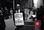 Image of Kneepants manufacturers on a strike New York United States USA, 1937, second 3 stock footage video 65675035818