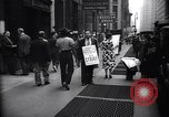 Image of Kneepants manufacturers on a strike New York United States USA, 1937, second 7 stock footage video 65675035818