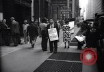 Image of Kneepants manufacturers on a strike New York United States USA, 1937, second 8 stock footage video 65675035818