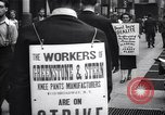 Image of Kneepants manufacturers on a strike New York United States USA, 1937, second 9 stock footage video 65675035818