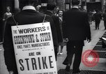 Image of Kneepants manufacturers on a strike New York United States USA, 1937, second 10 stock footage video 65675035818