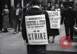 Image of Kneepants manufacturers on a strike New York United States USA, 1937, second 12 stock footage video 65675035818