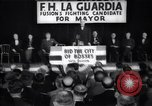 Image of election campaign of F H LaGuardia for the mayor of New York New York United States USA, 1934, second 1 stock footage video 65675035821