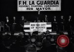 Image of election campaign of F H LaGuardia for the mayor of New York New York United States USA, 1934, second 8 stock footage video 65675035821