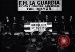 Image of election campaign of F H LaGuardia for the mayor of New York New York United States USA, 1934, second 11 stock footage video 65675035821