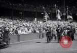 Image of Mayor LaGuardia of New York inaugurates a baseball match Bronx New York City USA, 1937, second 2 stock footage video 65675035826