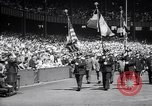 Image of Mayor LaGuardia of New York inaugurates a baseball match Bronx New York City USA, 1937, second 4 stock footage video 65675035826