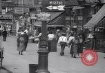 Image of busy market shops and streets Harlem New York City USA, 1937, second 3 stock footage video 65675035839