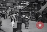 Image of busy market shops and streets Harlem New York City USA, 1937, second 12 stock footage video 65675035839