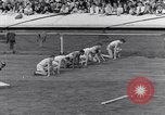 Image of track events between USA and Britain London England United Kingdom, 1936, second 2 stock footage video 65675035856
