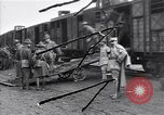 Image of American soldiers reach a French railroad station World War 1 France, 1917, second 1 stock footage video 65675035882