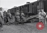 Image of American soldiers reach a French railroad station World War 1 France, 1917, second 2 stock footage video 65675035882