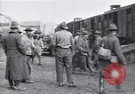 Image of American soldiers reach a French railroad station World War 1 France, 1917, second 3 stock footage video 65675035882