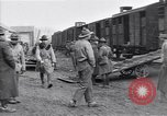 Image of American soldiers reach a French railroad station World War 1 France, 1917, second 4 stock footage video 65675035882