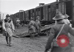 Image of American soldiers reach a French railroad station World War 1 France, 1917, second 5 stock footage video 65675035882