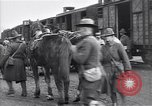 Image of American soldiers reach a French railroad station World War 1 France, 1917, second 7 stock footage video 65675035882