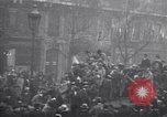 Image of celebration on day of Armistice Paris France, 1918, second 5 stock footage video 65675035883