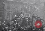 Image of celebration on day of Armistice Paris France, 1918, second 7 stock footage video 65675035883