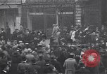 Image of celebration on day of Armistice Paris France, 1918, second 8 stock footage video 65675035883