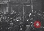 Image of celebration on day of Armistice Paris France, 1918, second 9 stock footage video 65675035883