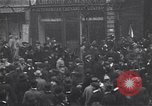 Image of celebration on day of Armistice Paris France, 1918, second 10 stock footage video 65675035883