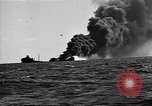 Image of sinking burning ship Atlantic Ocean off New Jersey USA, 1942, second 1 stock footage video 65675035894