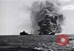 Image of sinking burning ship Atlantic Ocean off New Jersey USA, 1942, second 9 stock footage video 65675035894