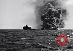 Image of sinking burning ship Atlantic Ocean off New Jersey USA, 1942, second 11 stock footage video 65675035894