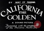 Image of California the Golden California United States USA, 1931, second 2 stock footage video 65675035925