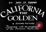 Image of California the Golden California United States USA, 1931, second 3 stock footage video 65675035925