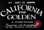Image of California the Golden California United States USA, 1931, second 4 stock footage video 65675035925