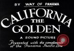Image of California the Golden California United States USA, 1931, second 5 stock footage video 65675035925