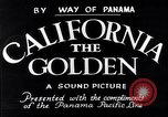 Image of California the Golden California United States USA, 1931, second 6 stock footage video 65675035925