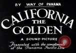 Image of California the Golden California United States USA, 1931, second 7 stock footage video 65675035925
