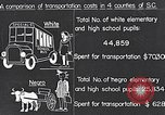 Image of transportation of negro pupils South Carolina United States USA, 1936, second 2 stock footage video 65675035954