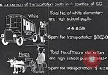 Image of transportation of negro pupils South Carolina United States USA, 1936, second 4 stock footage video 65675035954