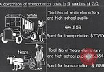 Image of transportation of negro pupils South Carolina United States USA, 1936, second 9 stock footage video 65675035954