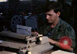 Image of currency exchange by US Army soldiers Long Binh Vietnam, 1969, second 6 stock footage video 65675035969