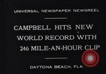 Image of Campbell driving Bluebird Daytona Beach Florida USA, 1931, second 2 stock footage video 65675035997
