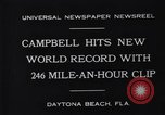 Image of Campbell driving Bluebird Daytona Beach Florida USA, 1931, second 3 stock footage video 65675035997