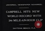 Image of Campbell driving Bluebird Daytona Beach Florida USA, 1931, second 5 stock footage video 65675035997