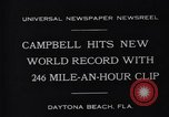 Image of Campbell driving Bluebird Daytona Beach Florida USA, 1931, second 6 stock footage video 65675035997