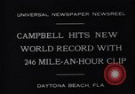 Image of Campbell driving Bluebird Daytona Beach Florida USA, 1931, second 7 stock footage video 65675035997