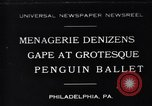 Image of mascots of penguins Philadelphia Pennsylvania USA, 1931, second 1 stock footage video 65675035999